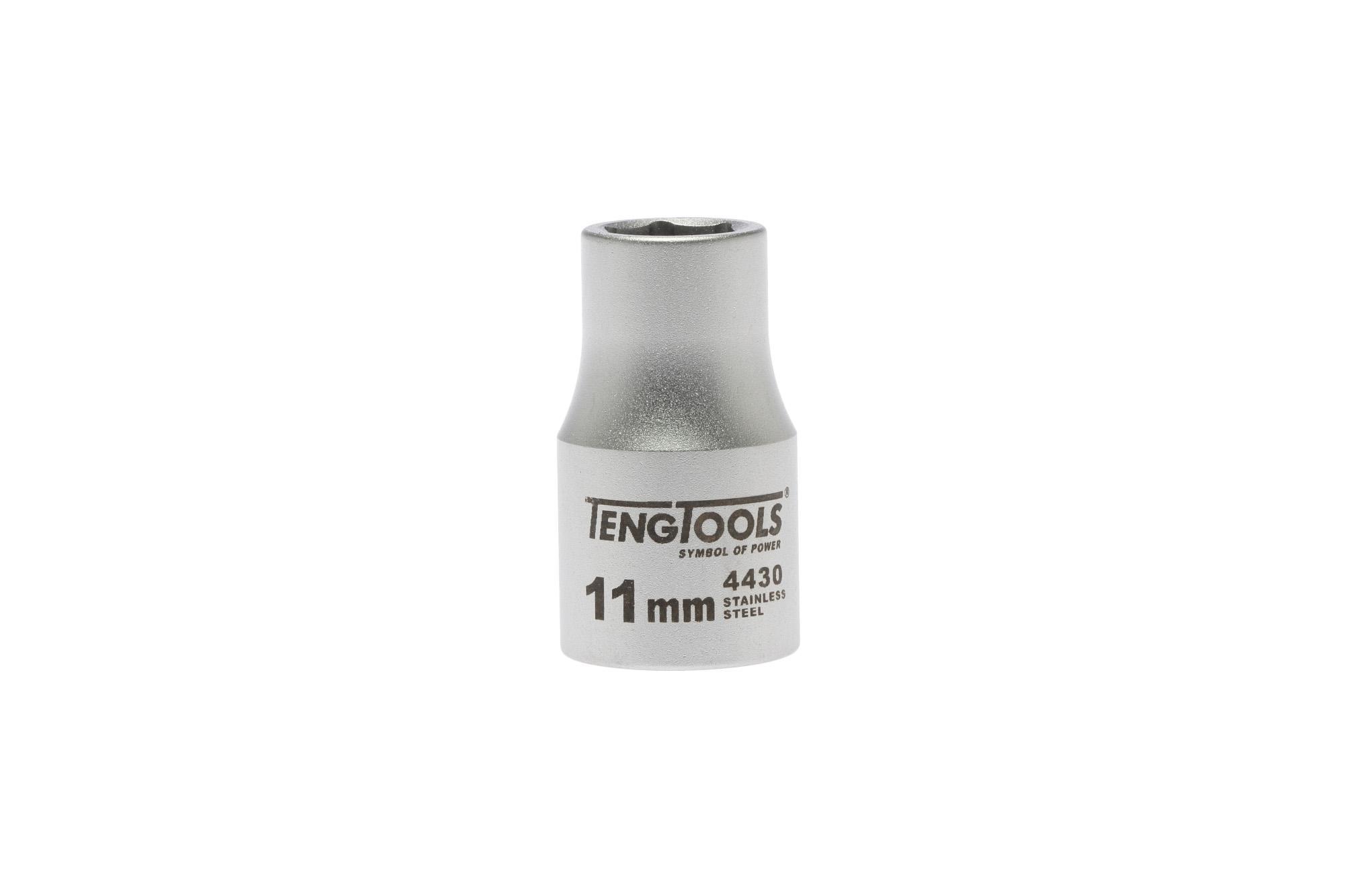 """Douille inox 1/2"""" 6 pans 11 mm"""