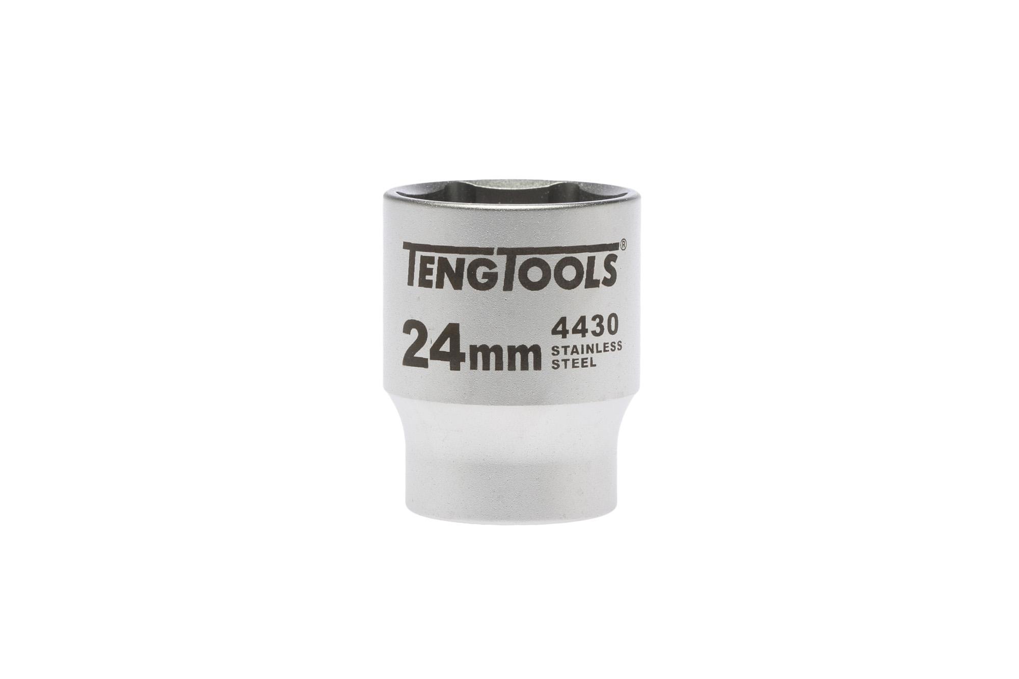 """Douille inox 1/2"""" 6 pans 24 mm"""